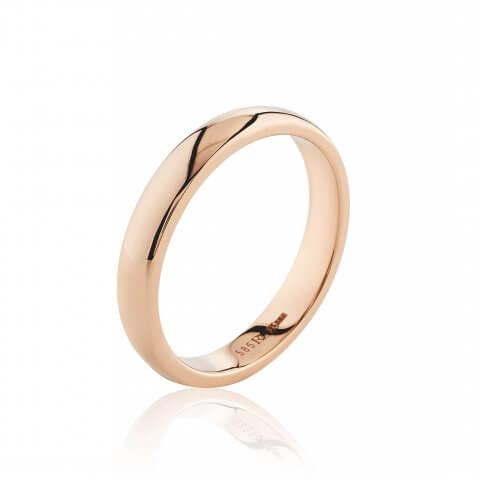 Rožinio aukso žiedas (3.9 mm pločio)