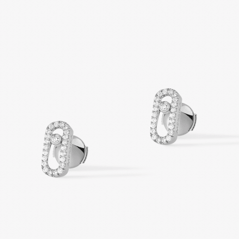 MESSIKA balto aukso auskarai su deimantais Move Uno