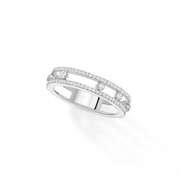 MESSIKA balto aukso žiedas su deimantais Move Romane