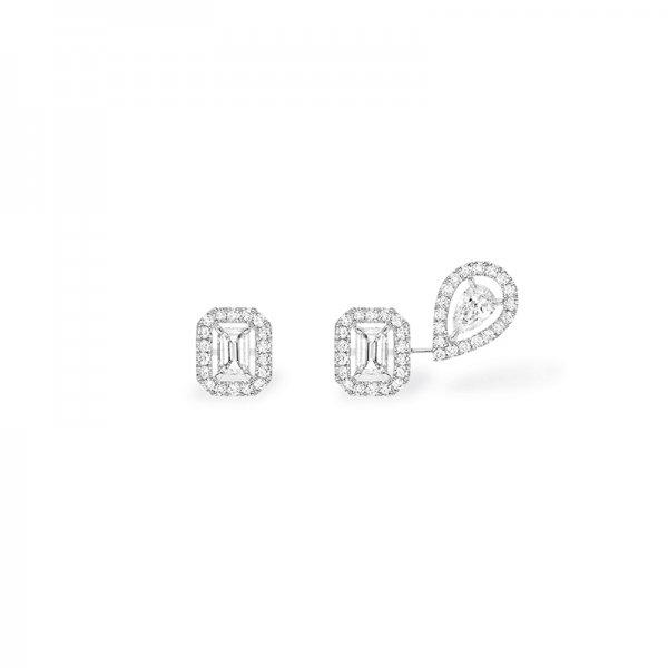 MESSIKA balto aukso auskarai su deimantais My Twin