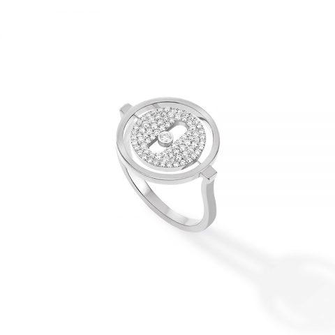 MESSIKA balto aukso žiedas su deimantais Lucky Move