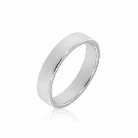 Balto aukso žiedas (4.9 mm pločio)