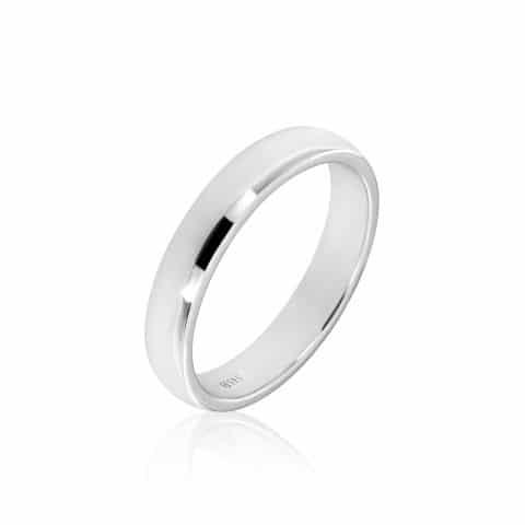 Balto aukso žiedas (5.0 mm pločio)