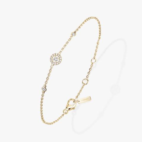 MESSIKA Geltono aukso apyrankė su deimantais JOY XS