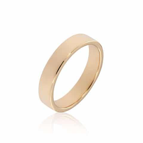 Geltono aukso žiedas (4.9mm pločio)