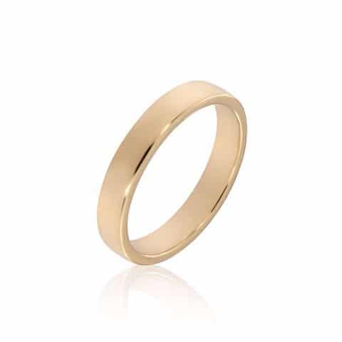 Geltono aukso žiedas (4.0 mm pločio)