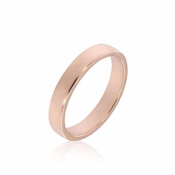 Rožinio aukso žiedas (4.0 mm pločio)