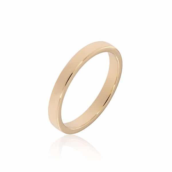 Geltono aukso žiedas (3.4 mm pločio)