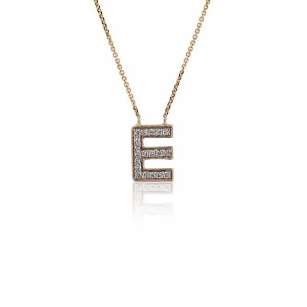 Balto aukso pakabukas, raidė L