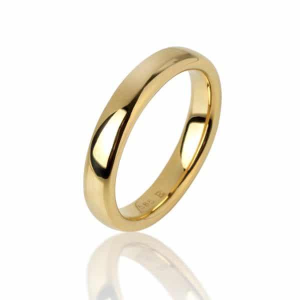 Geltono aukso žiedas (3,6 mm pločio)