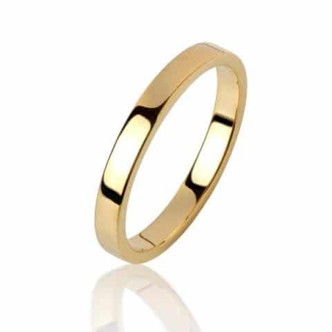 Geltono aukso žiedas (3,9 mm pločio)