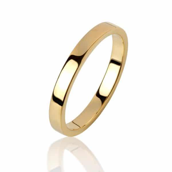 Geltono aukso žiedas (3.6 mm pločio)
