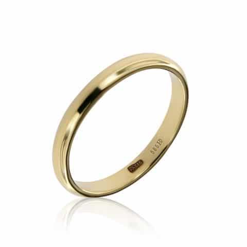 Geltono aukso žiedas