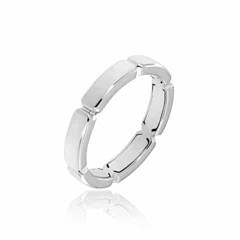 Balto  aukso žiedas (4.1 mm pločio)