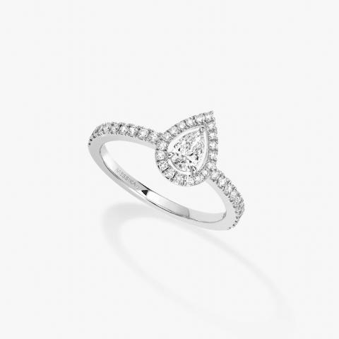 Messika balto aukso žiedas su deimantais Joy