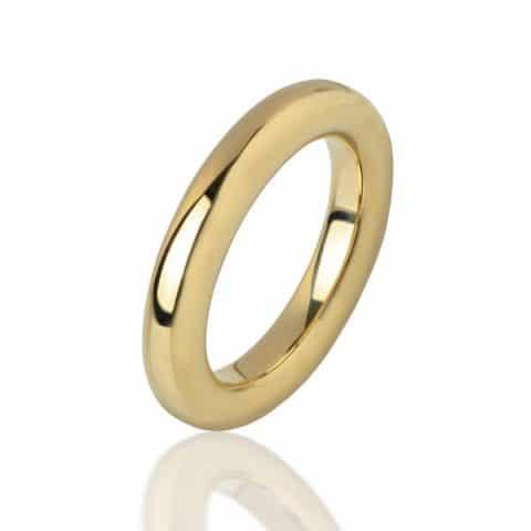 Geltono aukso žiedas (4 mm pločio)