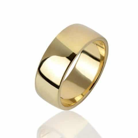 Geltono aukso žiedas (7,5 mm pločio)