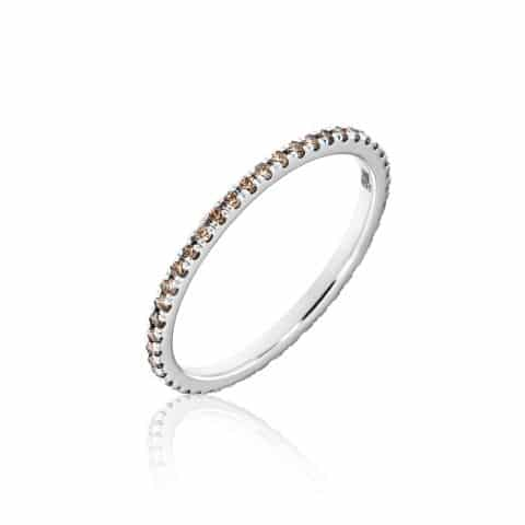 Balto aukso žiedas du deimantais