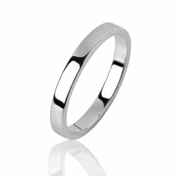 Balto aukso žiedas (3.8 mm pločio)