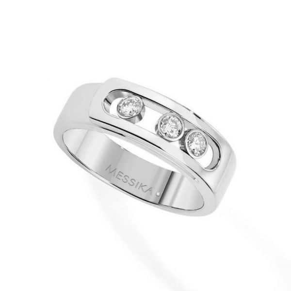 MESSIKA balto aukso žiedas su deimantais  BG MOVE NOA