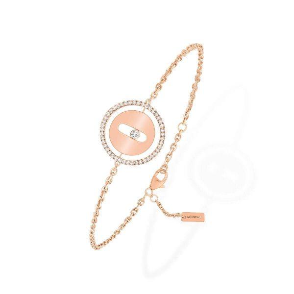 MESSIKA rožinio aukso  apyrankė su deimantais Lucky Move PM