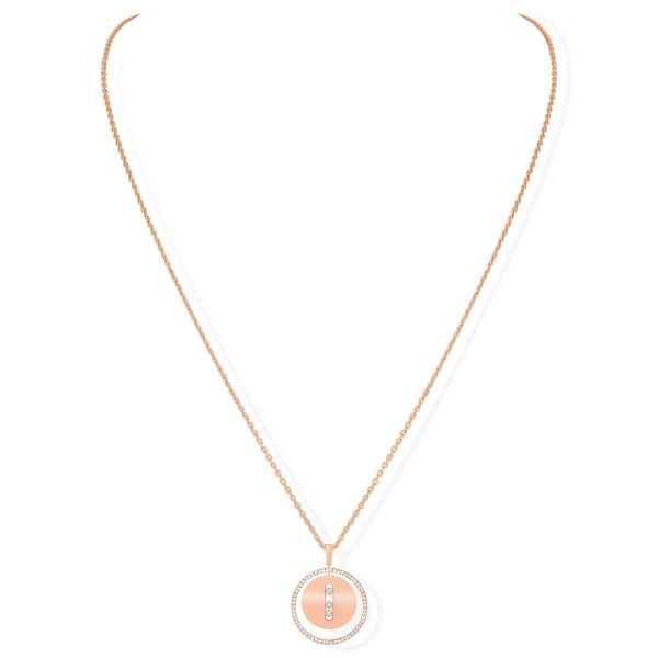 MESSIKA rožinio aukso grandinėlė su pakabuku CO Lucky Move MM