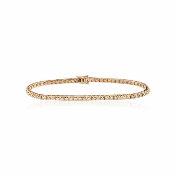 Geltono aukso tennis apyrankė su deimantais