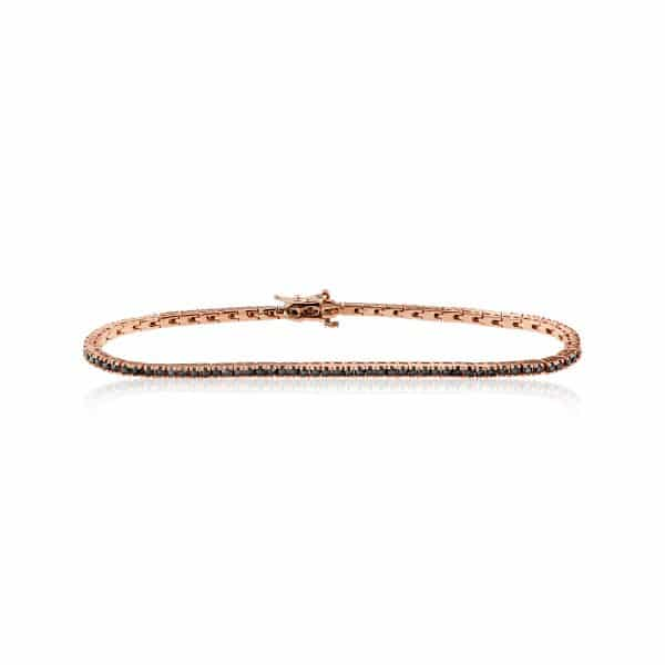Rožinio aukso tennis apyrankė su deimantais
