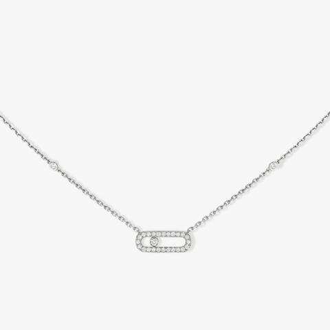 MESSIKA balto aukso  pakabukas su deimantais Move Uno Pavé