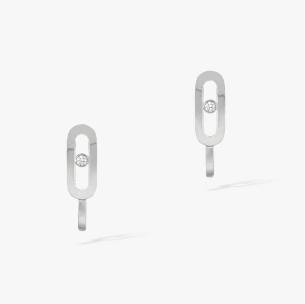 MESSIKA Balto aukso auskarai su deimantais Move Uno Mini Hoops