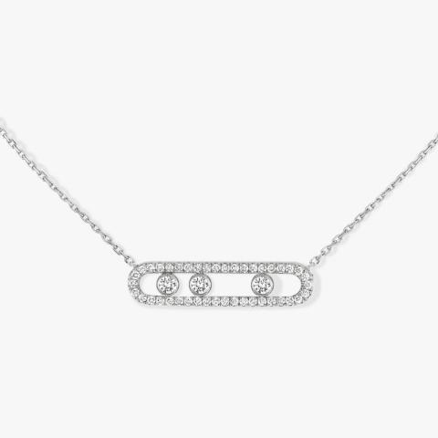MESSIKA balto aukso pakabukas su deimantais Move Pavé