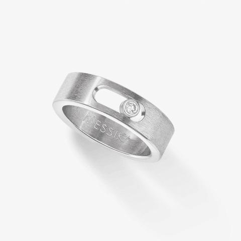 MESSIKA Titano žiedas su deimantu Move Titanium PM