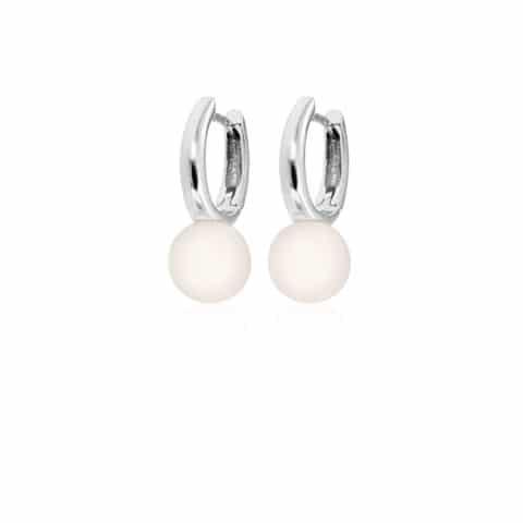 Balto aukso auskarai su perlais