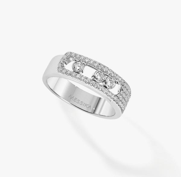 MESSIKA Balto aukso žiedas  su deimantais Move Noa Pavé