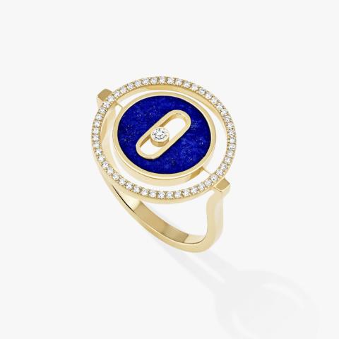 MESSIKA Geltono aukso žiedas su deimantais ir malachitu LUCKY MOVE