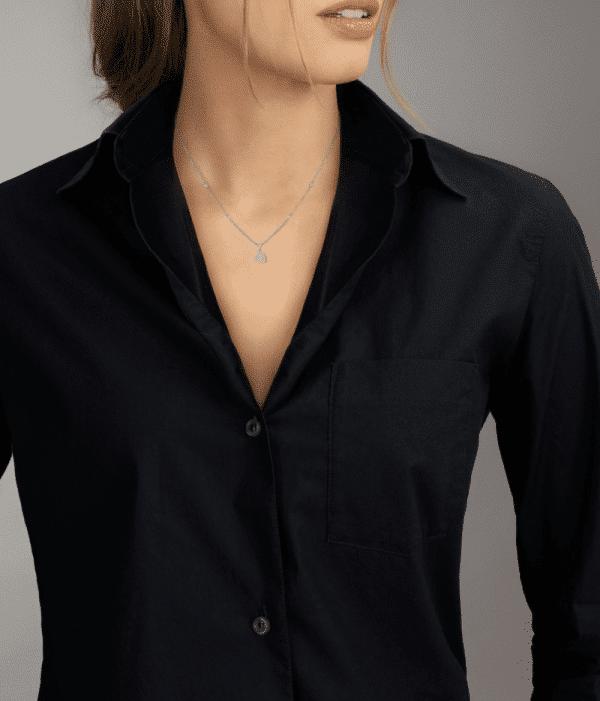 MESSIKA Balto aukso pakabukas su deimantais Joy cœur diamond necklace