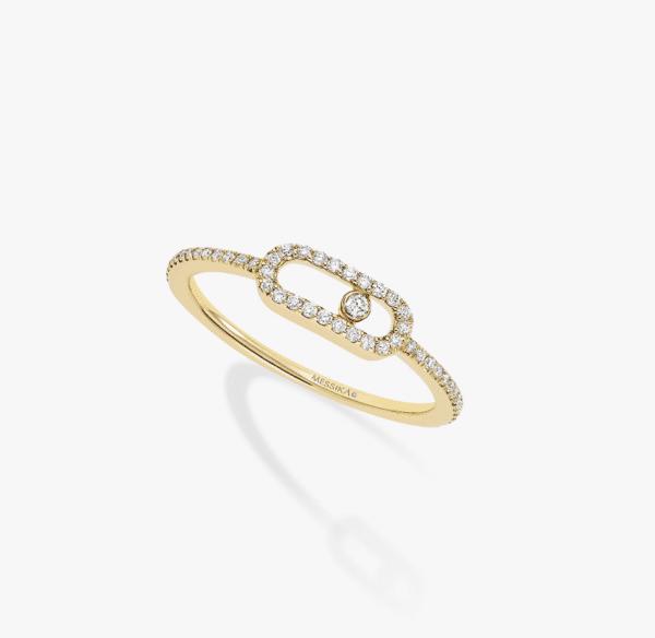 MESSIKA Geltono aukso žiedas su deimantais MOVE UNO PV RG
