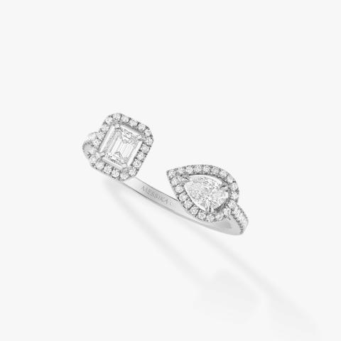 MESSIKA Balto aukso žiedas su deimantais My Twin Toi