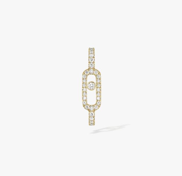 MESSIKA Geltono aukso auskaras su deimantais Move Uno Pavé Mono