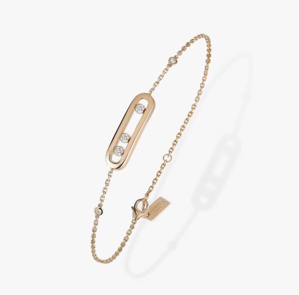MESSIKA Rožinio aukso pakabukas  su deimantais  Baby Move