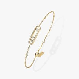 MESSIKA geltono aukso apyrankė su deimantais Baby Move Pavé
