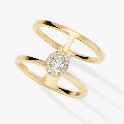 MESSIKA geltono aukso žiedas su deimantais GLAM'AZONE
