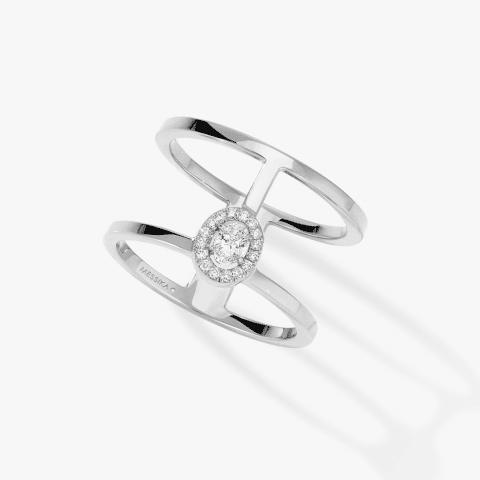 MESSIKA balto žiedas su deimantais Glam'Azone