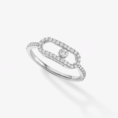 MESSIKA balto aukso žiedas su deimantais Move Uno