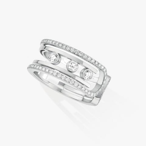 MESSIKA balto aukso žiedas su deimantais