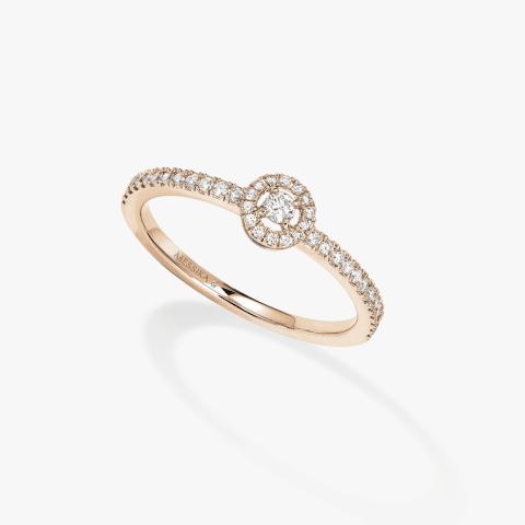 MESSIKA rožinio aukso žiedas su deimantais Joy