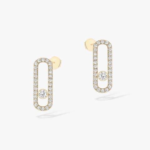 MESSIKA geltono aukso auskarai su deimantais