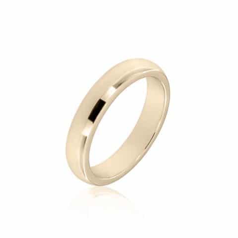 Geltono aukso žiedas (5 mm pločio)