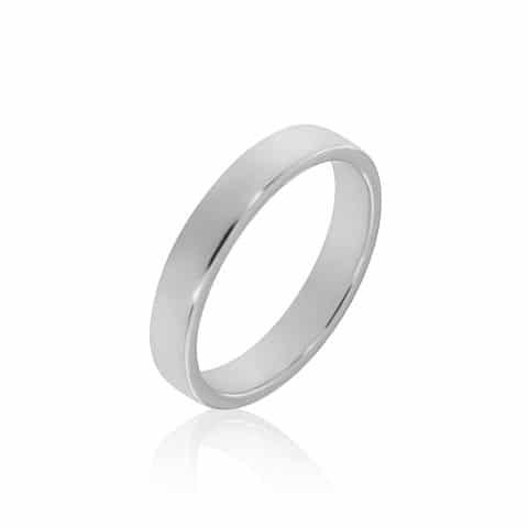 Balto aukso žiedas (3,8 mm pločio)