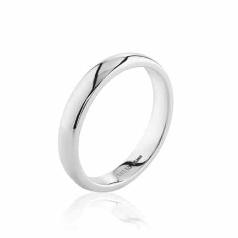 Balto aukso žiedas ( 4 mm pločio)
